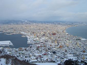 冬の函館山